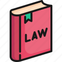 book, education, justice, knowledge, law, legal, library icon