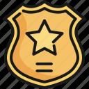 badge, emblem, police, sheriff, shield, sign, symbol icon