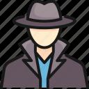 agent, crime, criminal, detective, inspector, secret, spy icon