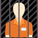 cage, convict, crime, criminal, jail, prisoner, punishment icon