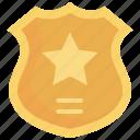 badge, emblem, police, sheriff, shield, sign, symbol