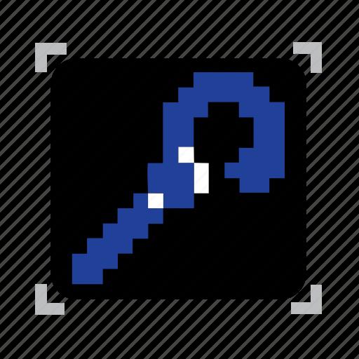 blue, pixel, staff icon