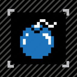 bomb, pixel icon