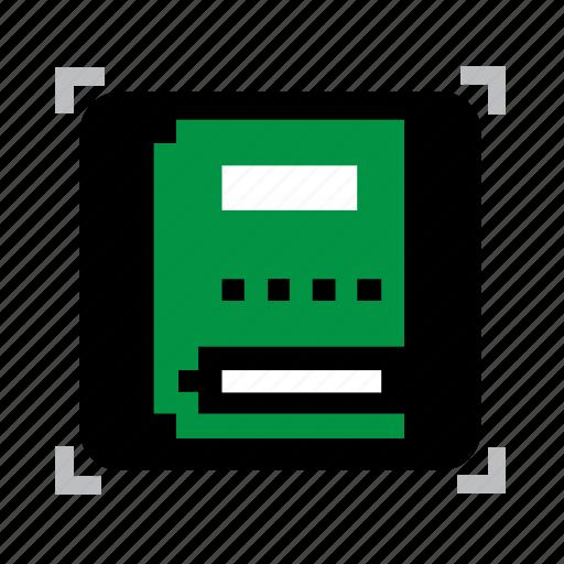book, pixel icon