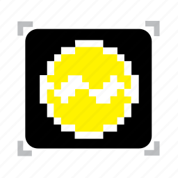 1, emblem, pixel icon