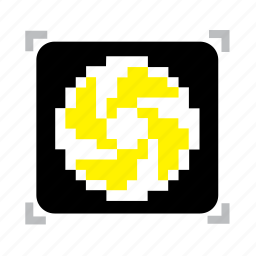 3, emblem, pixel icon