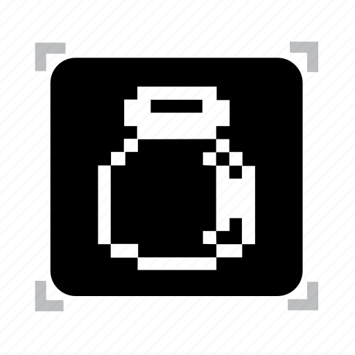 bottle, empty, pixel icon