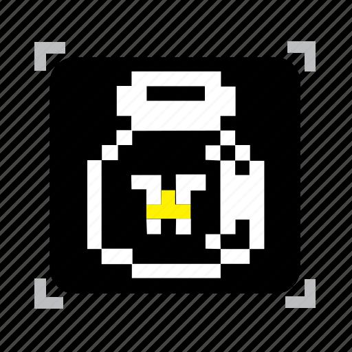 bottle, fairy, pixel icon