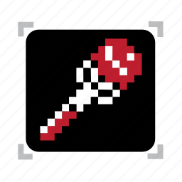 fire, pixel, staff icon