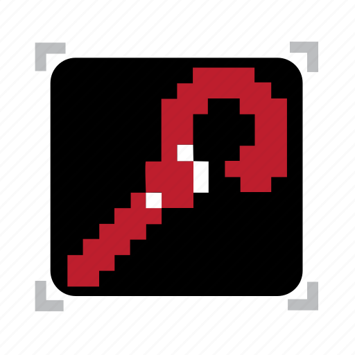 pixel, red, staff icon