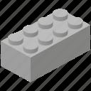piece, toy brick, building block, buidling block icon