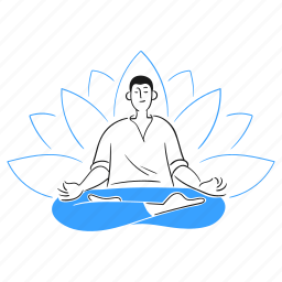 peace, meditation, sitting, concentration, yoga, man, leisure, lotus