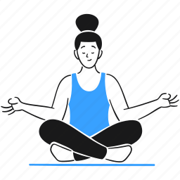 meditation, yoga, leisure, lotus, woman, sitting, concentration, peace