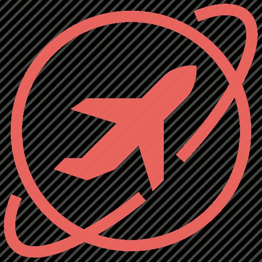 airplane, flight, plane, tourism, travel, vacation, world icon