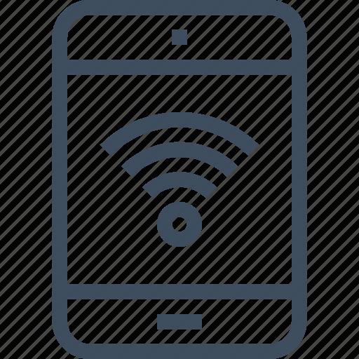 communication, device, hotspot, internet, network, tablet, wifi icon