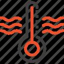 cold, diagnostic, equipment, hot, temperature, thermometer, weather icon