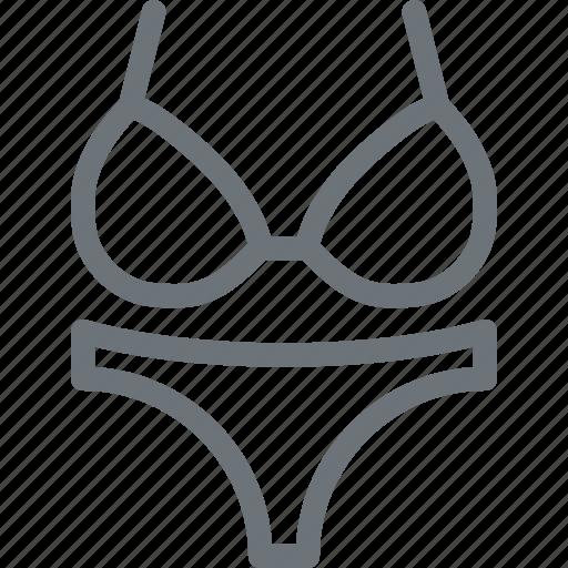 beach, clothes, summer, swim, swimsuit, wear, woman icon