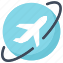 airplane, flight, plane, tourism, travel, vacation, world icon
