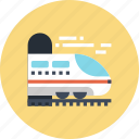 railroad, railway, tourism, train, transport, transportation, travel icon