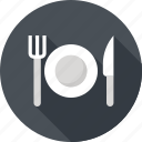fork, plate, restaurant, food, dish, knife, kitchen