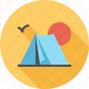 camping, leisure, nature, outdoors, tent, tourism, travel icon