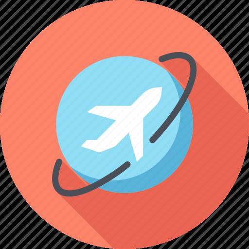 Airplane, flight, plane, tourism, travel, vacation, world icon - Download on Iconfinder