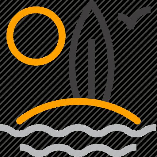 Beach, board, leisure, sea, summer, surfboard, surfing icon - Download on Iconfinder