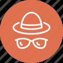 beach, fashion, glasses, hat, summer, sun, sunglasses icon