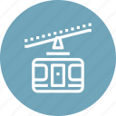 cableway, elevator, funicular, mountains, tourism, transportation, travel icon