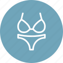 beach, clothes, summer, swim, swimsuit, wear, woman icon