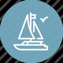 boat, sailboat, sailing, sea, ship, travel, yacht