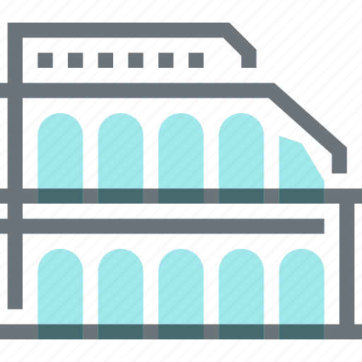 building, coliseum, historical, landmark, rome, tourism, travel icon