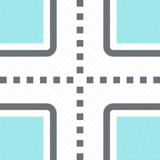 cross, crossroad, direction, intersection, road, tourism, travel icon