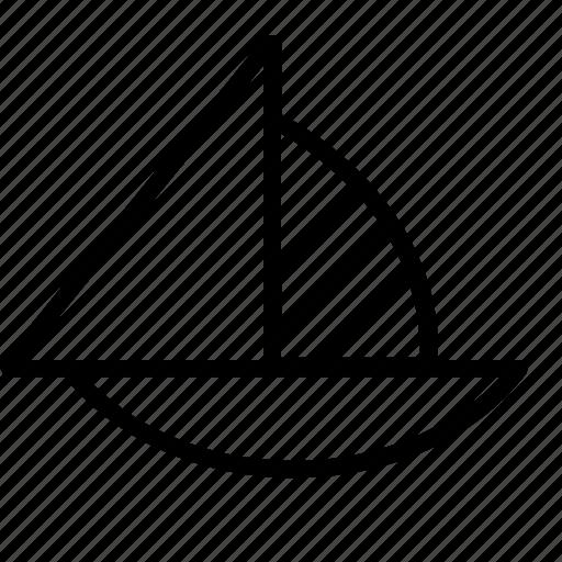 activity, boat, leisure, sailboat, sailing icon