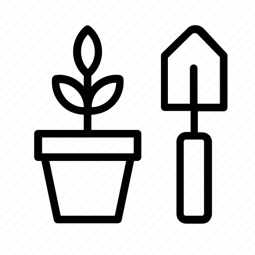 activity, garden, gardening, leisure, plant, pot, shovel icon