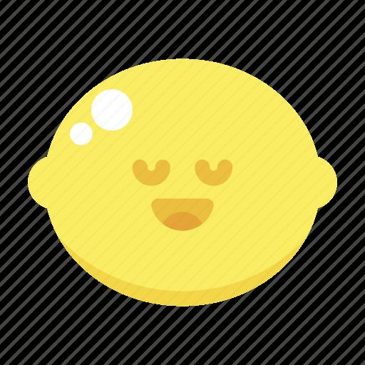 cute, joy, lemon, peace icon