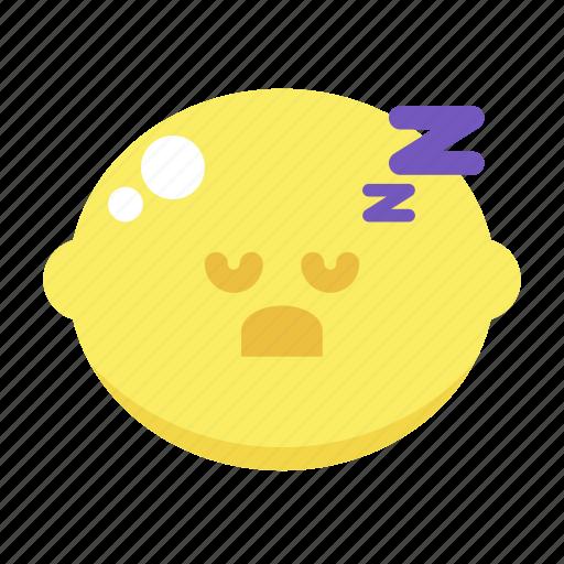 cute, lemon, sleep, sleepy icon