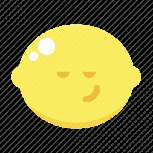 content, cute, devious, lemon icon