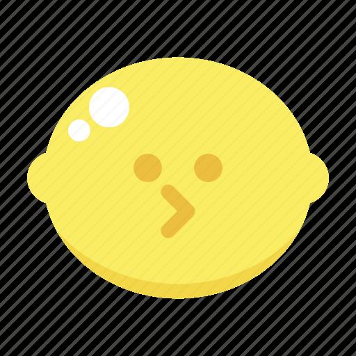 cute, lemon, pac man icon