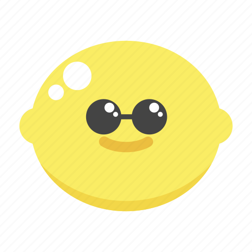 cool, cute, glasses, lemon, swag icon