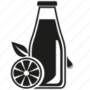bottle, citrus, drink, lemon, lemonade, orange, slice icon