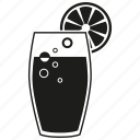 citrus, juice, lemon, lemonade, orange, slice, soda icon