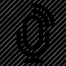 announcement, microphone, sound, speak, wave icon