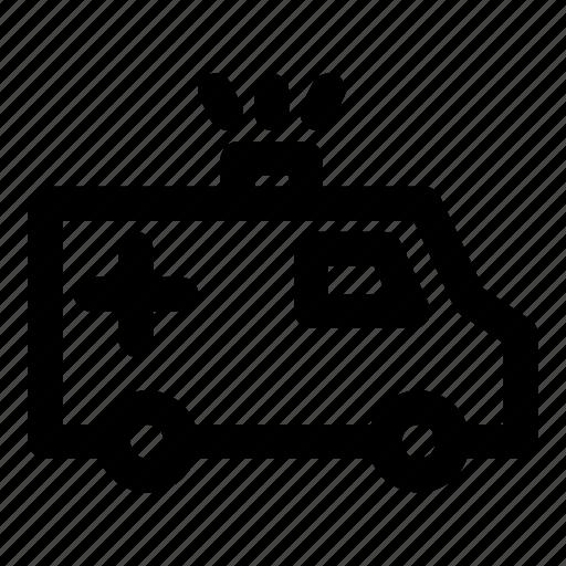 ambulance, injured, sick, transportation, vehicle icon