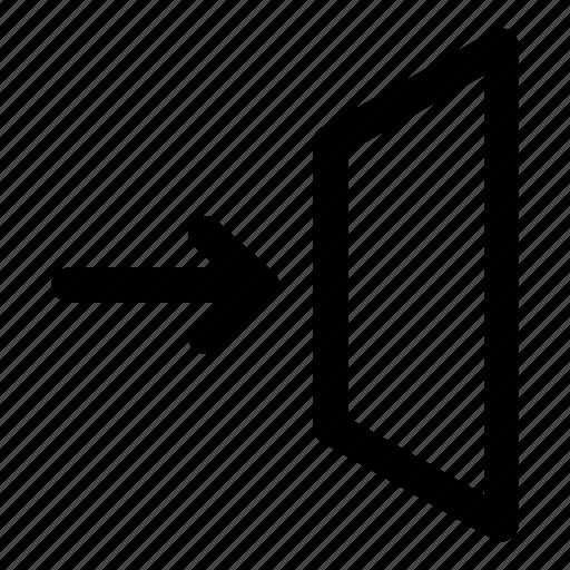 arrow, door, enter, entrance, window icon