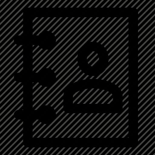 address, book, business, call, person icon