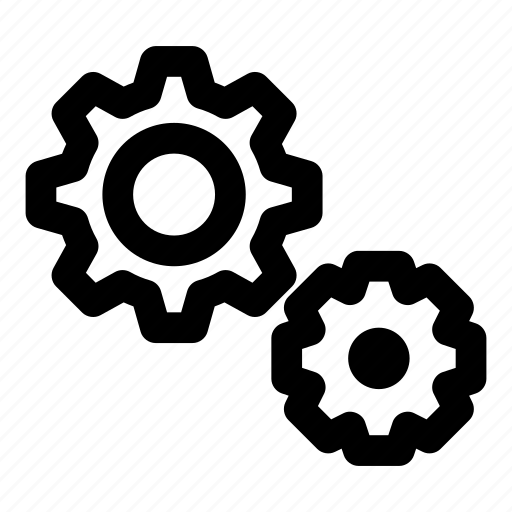 cogs, gears, option, setting, tools icon