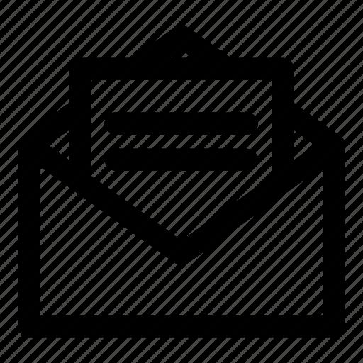 deliver, envelope, letter, message, paper icon
