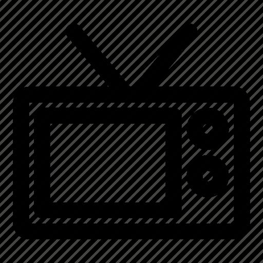 cinema, movie, television, video, watch icon