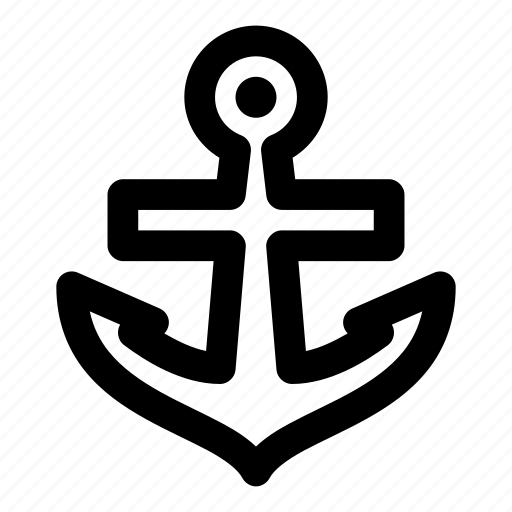 anchor, cruise, shipping, transport, vessel icon